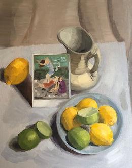 Neo Classical Lemon LIme Postcard