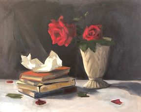 Red Roses Letter Painting