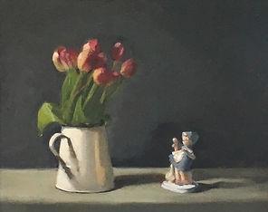 Tulips with Dutch Girl