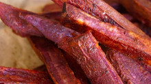 Chile-Lemon Roasted Purple Sweet Potato French Fries