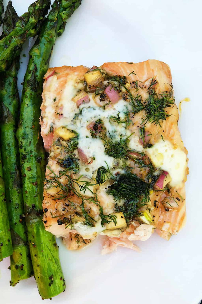 Lime Dill Shallot Grilled Salmon Recipe
