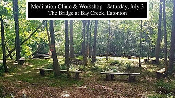 meditation clinic and workshop July 2021