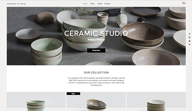Home & Decor website templates – Ceramic Studio