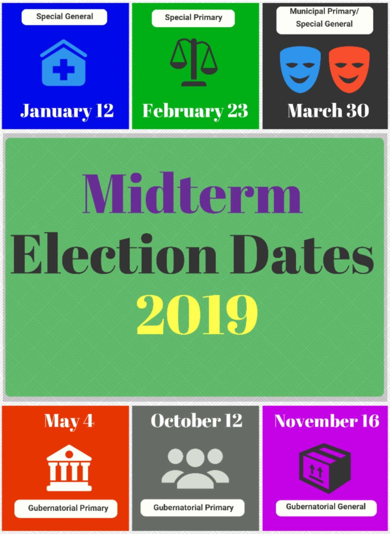Midterm Election Dates, 2019