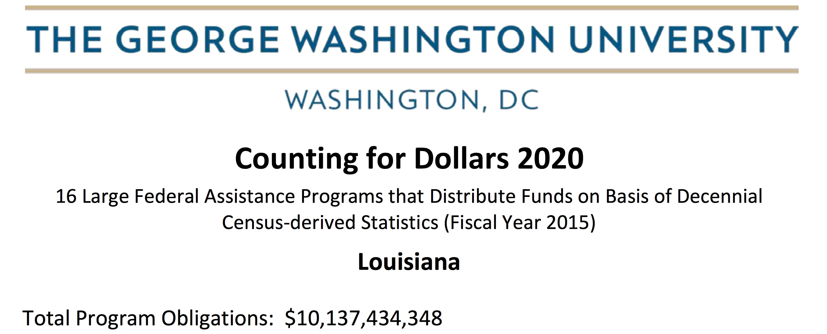 Counting for Dollars: