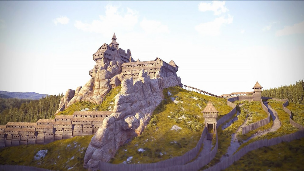 3Д модель крепости