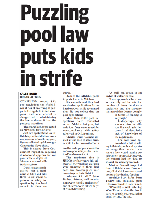 Puzzling Pool Law