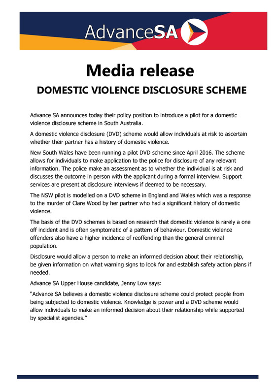 Domestic Violence Disclosure