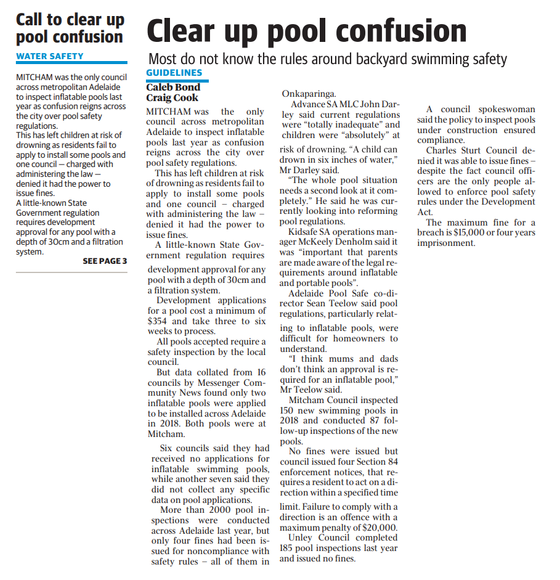 Clear up Pool Confusion