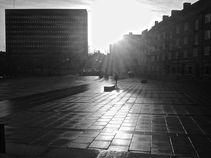 Winter Morning at Värnhemstorget in Malmö, Sweden