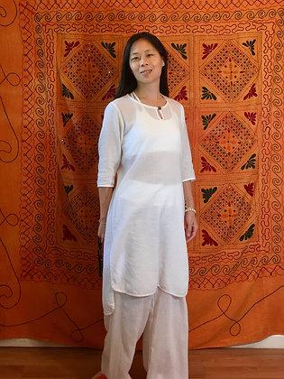 Uma dress, Thai cotton, ¾ sleeve