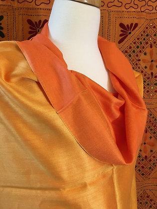 Two-tone Silk & Cotton Shawl