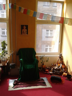 sitting for meditation in Europe