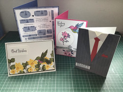Selection of cards for May