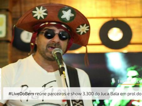 Live da Agência Certa celebrou show 3.300 do músico Juca Bala com ação solidária em Santa Bárbara