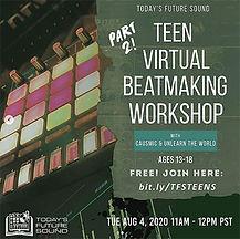 Teen Virtual Beatmaking Workshop