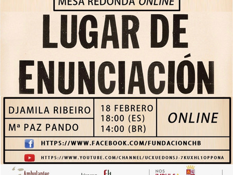 Mesa redonda: Djamila Ribeiro, Mª Paz Pando y la FCHB