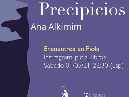 """Ana Alkimim y sus """"Precipicios"""", en la librería Piola"""