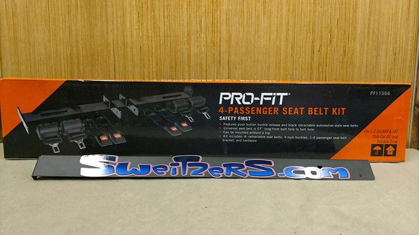 Universal 4 Passenger seat belt kit $150