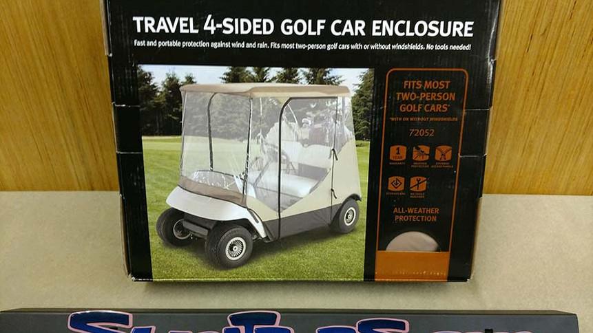 Universal golf cart enclosure fits all 2