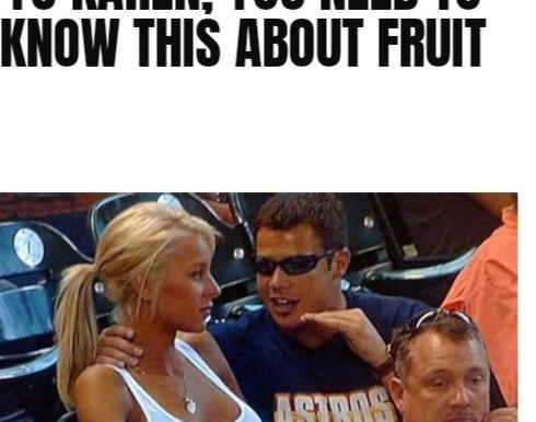 Karen doesn't track fruit, don't be like Karen