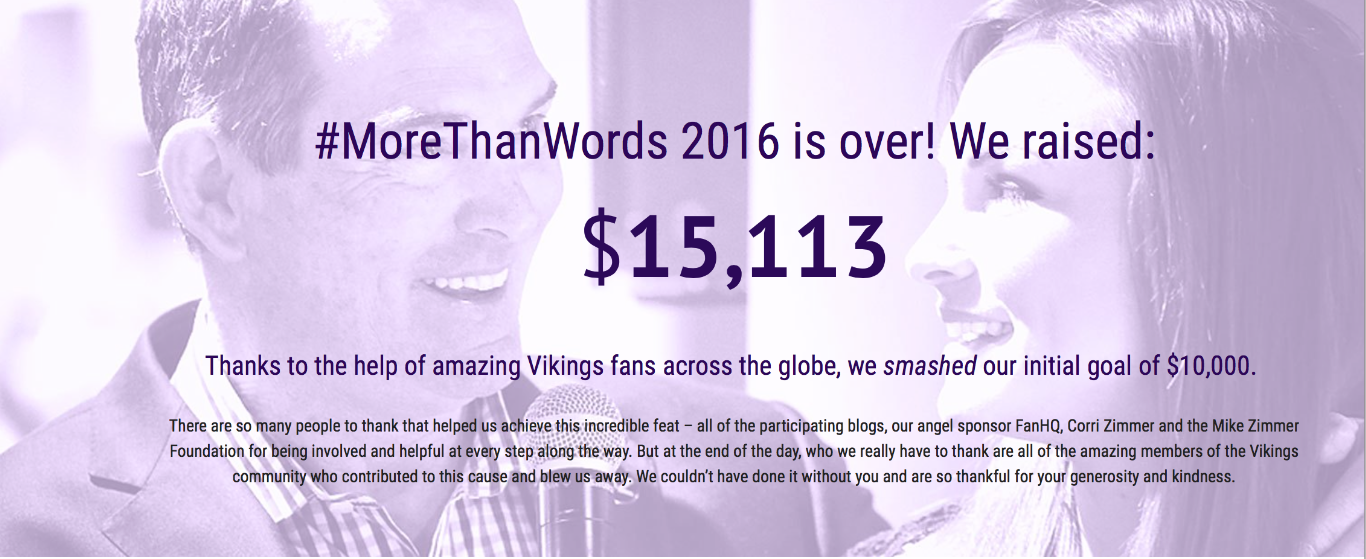 #MoreThanWords Raises $15K for MZF