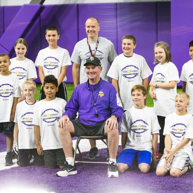 Coach Zimmer Hosts Youth Football Camp