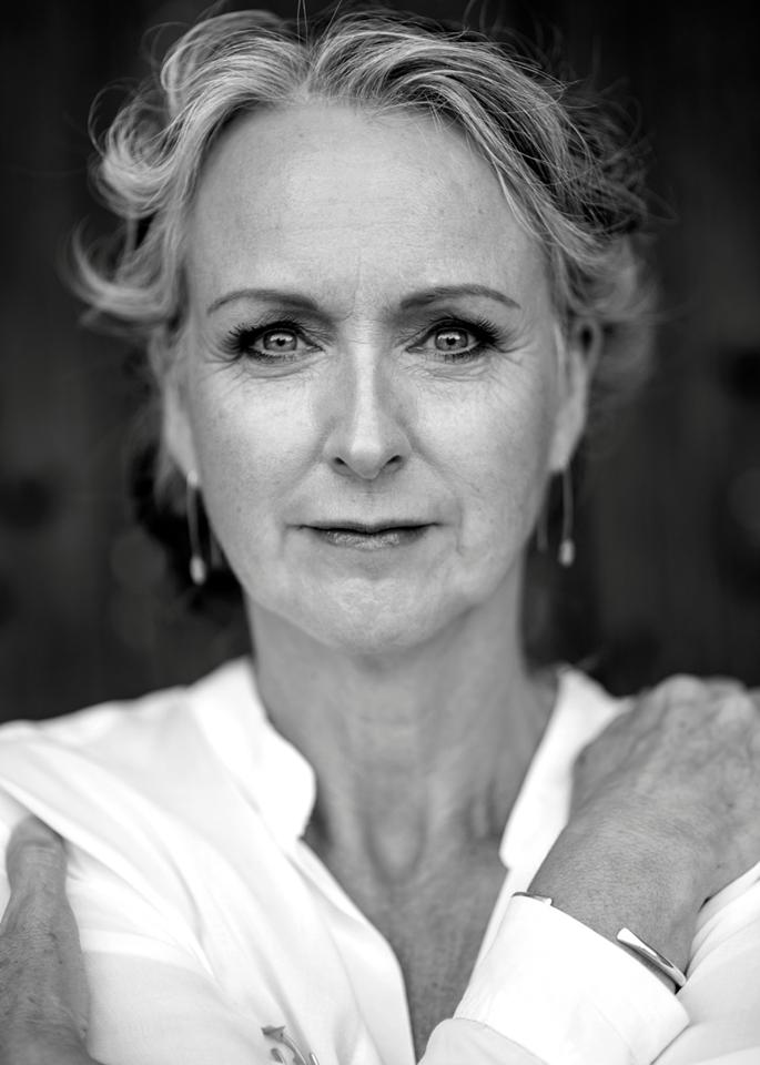 close-up portrait of a mature face