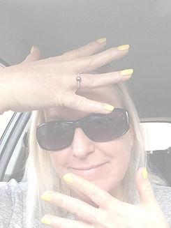 client showing off nail colour