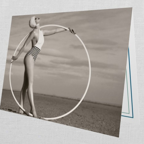 10 'Circle in the Sand' Greeting Cards