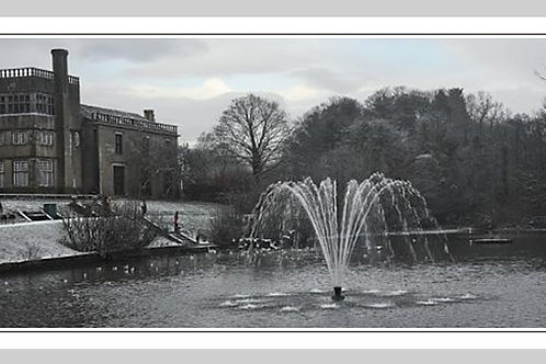 "Winter at Astley Park, 8x16"" panoramic"