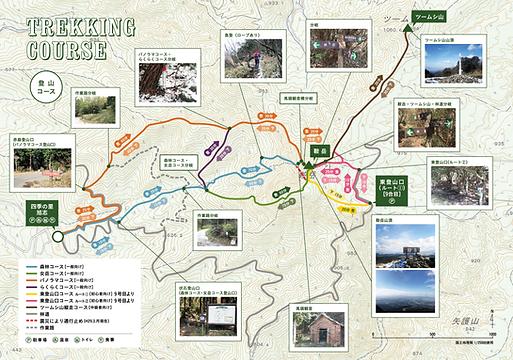 鞍岳登山マップ