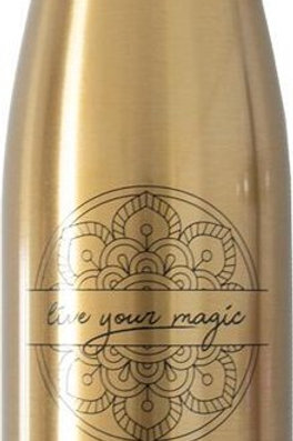 Waterfles Glossy Goud - Live Your Magic - 500ml