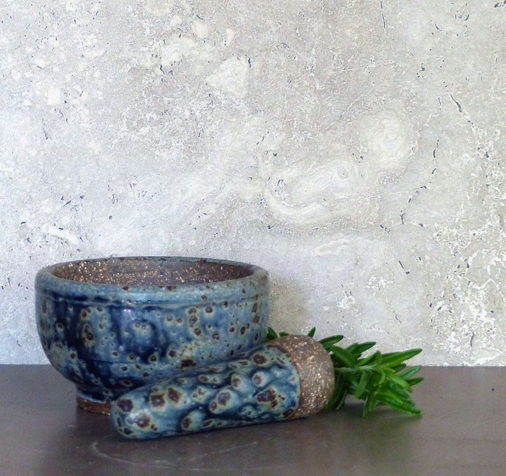 Rusty Blue pestle and Mortar