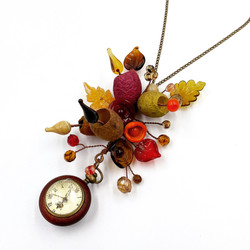 Adventures with Alice floral watch pendant GVP