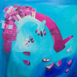 St Ives In Blue & Pink