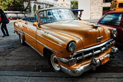 Orange Chevy -Havana Cuba