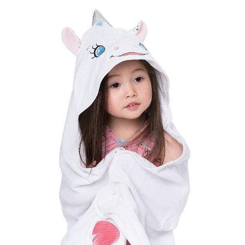 """Personalised """"Aurora Unicorn"""" Hooded Towel"""