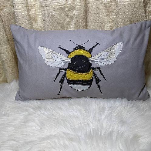 "Appliqued ""Bumble Bee"" Cushion"