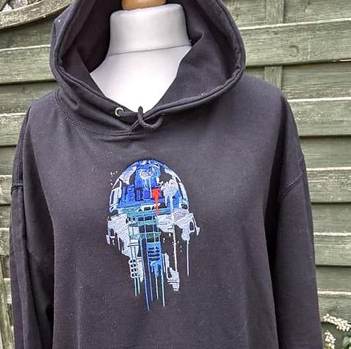 """Embroidered """"R2D2""""  hoodie (Size XL)"""