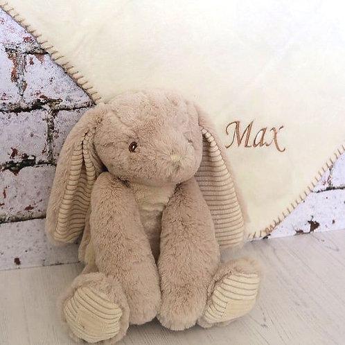 Personalised Baby Blanket & Rabbit