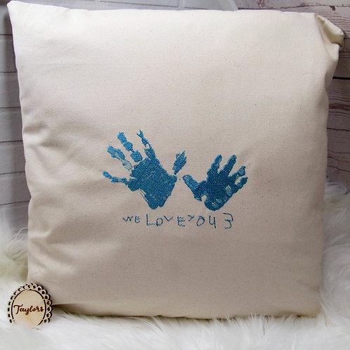 Hand/FootPrints Cushion Cover