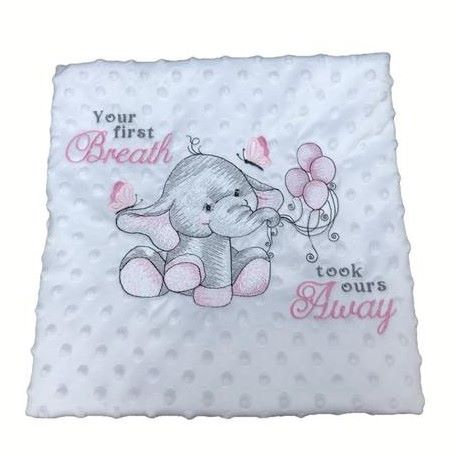 Personalised Baby Blanket - First Breath