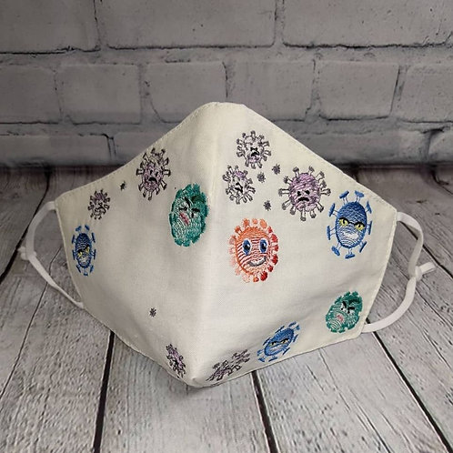 Embroidered face covering - Covid Design