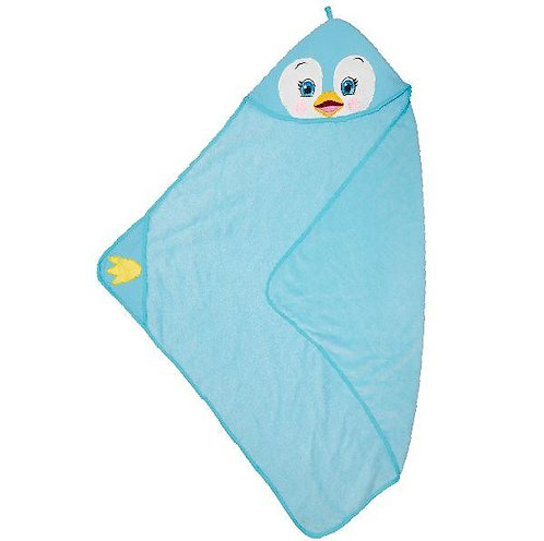 """Personalised """"Puddles Penguin"""" Hooded Towel"""