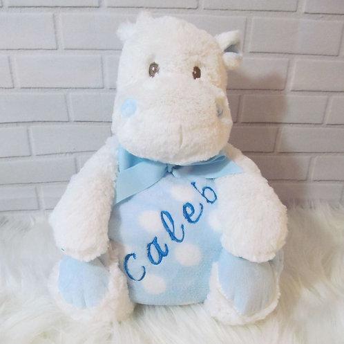 Personalised Baby Blanket & Hippo
