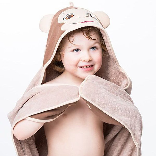 "Personalised ""Bugaloo Monkey"" Hooded Towel"