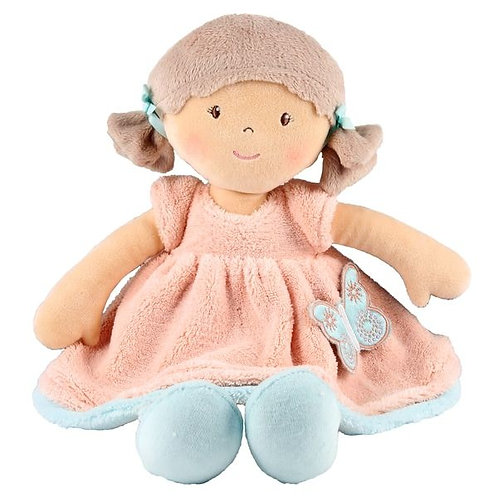 Personalised Rag Doll -Butterfly Peach