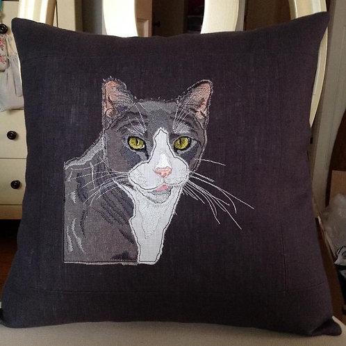 Tuxedo Cat Cushion