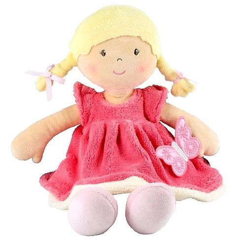 Personalised Rag Doll -Butterfly Pink